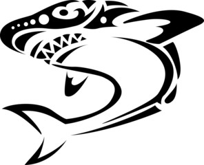 Shark tribal tattoo