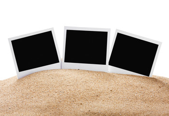 photoframe on the sea sand
