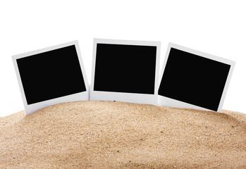 photoframe on the sea sand