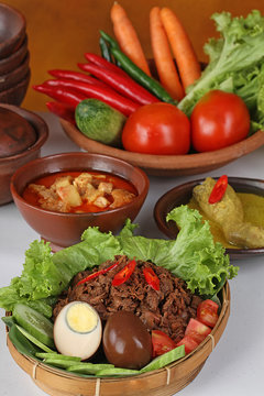 gudeg Jogya, Jack fruits dish, Indonesian cuisine