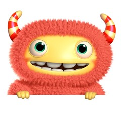 Poster de jardin Doux monstres 3d cartoon monster