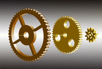 gear wheels in the 3d