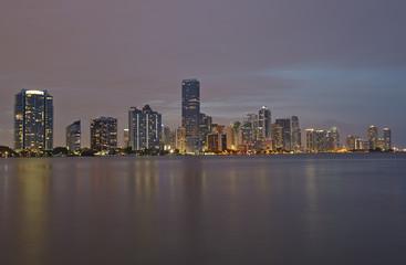 Wall Murals Shanghai Miami city skyline panorama at sunset
