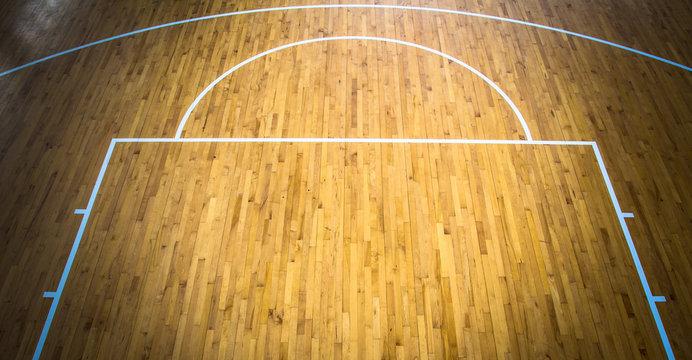 wooden floor basketball court indoor