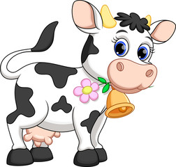 Funny cow cartoon