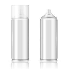 Blank aluminium spray can template.