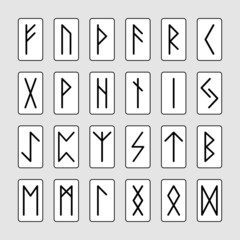 Set of signs runes