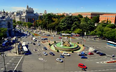 La plaza de las Cibeles . Madrid