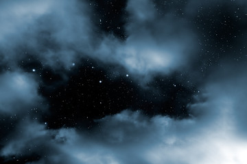 Starry night clouds