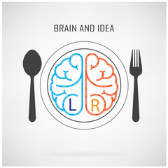 Creative left and right brain sign
