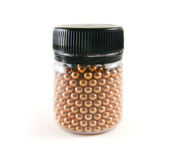 BB metallic bullets balls for airsoft pistol in plastic