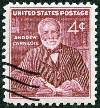 USA - 1960: shows Andrew Carnegie (1835-1919), industrialist