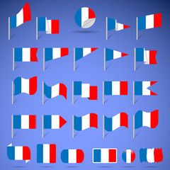 Flags of France.
