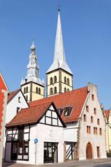 Blick auf Nicolaikirche und Altstadt von Lemgo