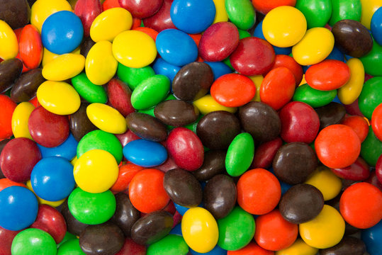 Circle Colorful Chocolates