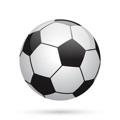 Classic soccer ball. Football icon.
