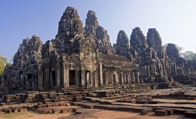 View of the temple of Bayon