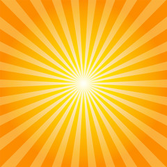 Orange rays texture background
