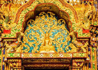 Buddha statue Wat Pha Baht Si Roi, chiangmai Thailand