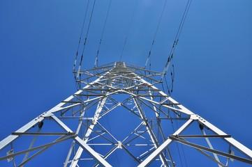 Power pole below view