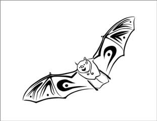 Flying Tribal Bat