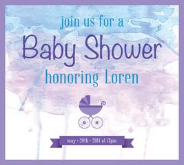 Baby Shower Watercolor Invitation