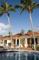 swimming pool at resort cabanas Big Corn Island Nicaragua Centra