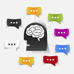 concept for online shopping: brain