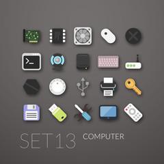 Flat icons set 13