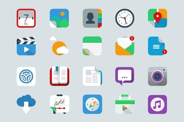 vector icons, application set