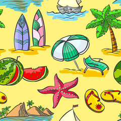 summer seamless pattern