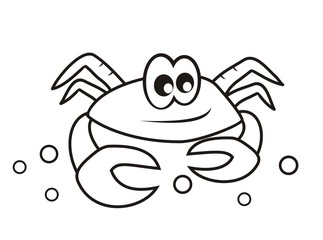 crab - coloring book