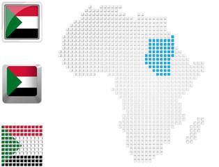 Sudan on map of Africa