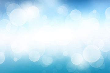Blue desktop wallpaper with bokeh light