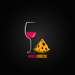 wine and cheese design background
