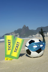 Brazil Tickets with Rio Carnival Football Soccer Ball