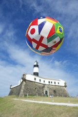 International Football Soccer Ball Salvador Lighthouse