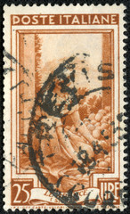 stamp printed in Italy, shows Sicilia