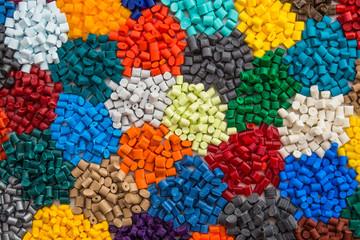 gefärbte Plastik Granulate