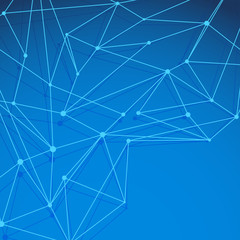 Modern blue molecule background layered
