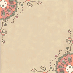 Retro background with ornamental pattern