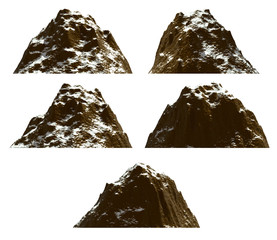 Mountain set , isolated