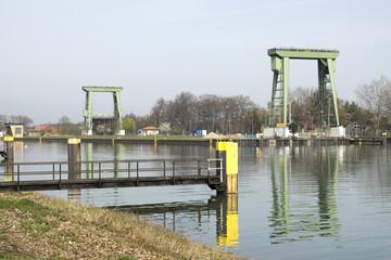 Grosse Kanalschleuse im Wesel-Datteln-Kanal, Datteln