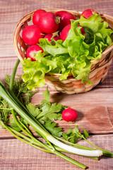 basket of radishes