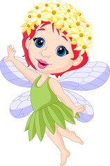 Cute little fairy cartoon