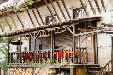 Street view of Melnik traditional architecture, Bulgaria