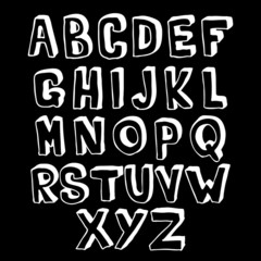 Black and white alphabet volume