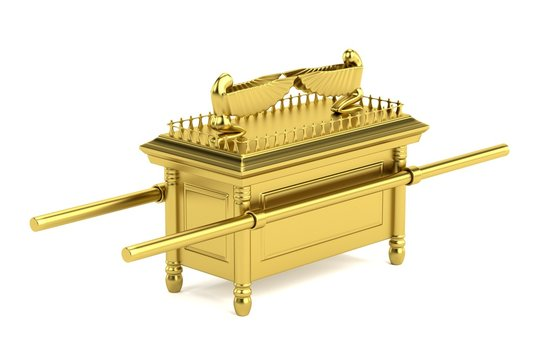 realistic 3d render of ark of the covenant
