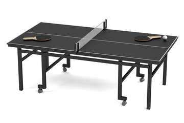 realistic 3d render of table tennis