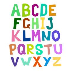 Multicolored alphabet curve